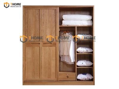 Tủ áo cửa lùa Capri 1;4m; 1.6m; 1.8m; 2.0m TA-16SM