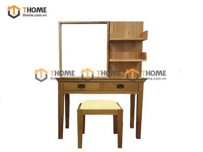 Bộ bàn trang điểm cổ điển 2 tầng (bàn+gương+đôn) 1.0m BTD-10SM
