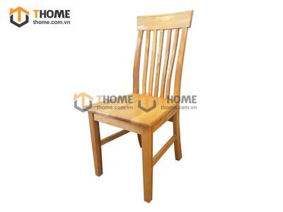 Ghế ăn 5 nan đứng mặt gỗ GHE-14SM