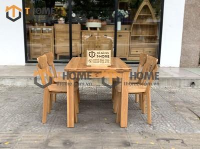Bộ bàn ăn Harris 4 ghế bán nguyệt 1.2m; 1.35m; 1.4m BBA-03SM