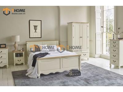 Bộ phòng ngủ Bella màu trắng 5 món BPN-24SM