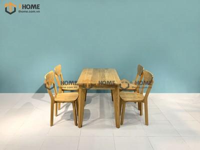 Bộ bàn ăn Harmony 4 ghế bán nguyệt 1.2m; 1.4m BBA-11SM