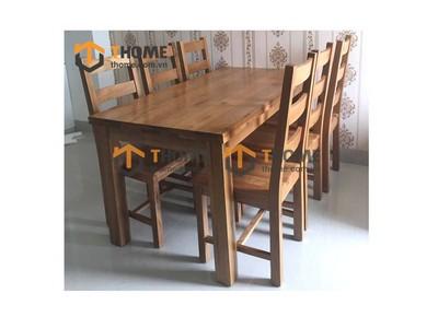 Bộ bàn ăn Harris 6 ghế 3 nan ngang 1.6m; 1.8m; 2.0m BBA-08SM