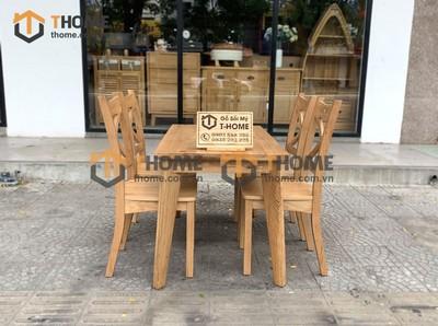 Bộ bàn ăn Harmony 4 ghế X 1.2m; 1.4m BBA-12SM