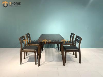 Bộ bàn ăn Obama 4 ghế 2 lá 1.2m; 1.4m BBA-34SN