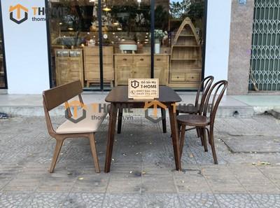Bộ bàn ăn Obama 2 ghế Thonet cong, 1 ghế bench 1.2m; 1.4m BBA-37SN