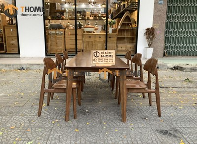 Bộ bàn ăn Obama 6 ghế op 1.6m; 1.8m; 2.0m BBA-48SN