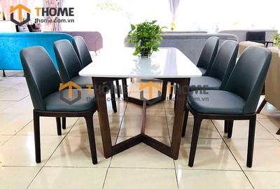 Bộ bàn ăn Concord chân xương cá 6 ghế neva 1.6m; 1.8m; 2.0m BBA-71SN