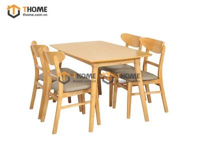 Bộ bàn ăn Mango 4 ghế mango 1.2m gỗ cao su BBA-75CS