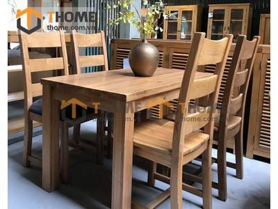 Bộ bàn ghế ăn Harris 4 ghế 2 nan 1.4m BGA-14SM