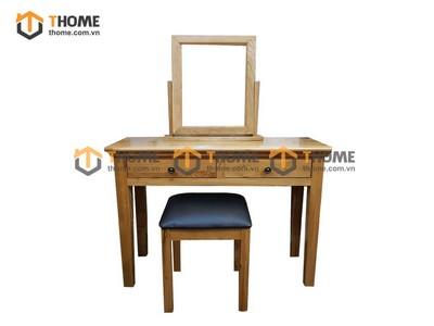 Bộ bàn trang điểm tay nắm tròn (bàn+gương+đôn) 1.1m BTD-07SM