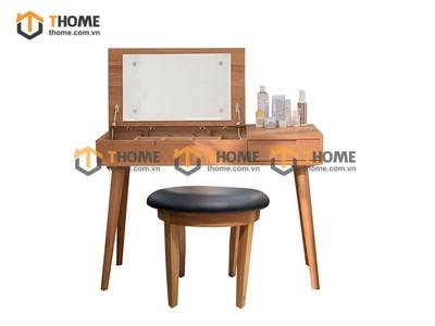 Bộ bàn trang điểm Como lật (bàn+gương+đôn) 1.05m BTD-17SM