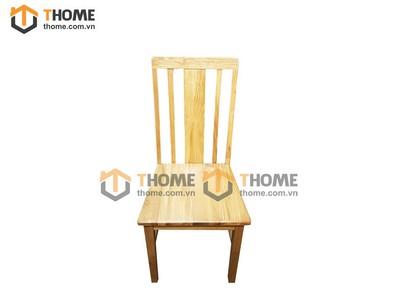 Ghế ăn 3 nan đứng gỗ sồi mặt gỗ GHE-15SM