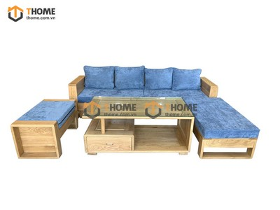 Bộ sofa góc Armani 4 món (nệm nỉ) màu tự nhiên 2.3m SF-13SM