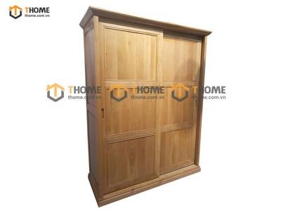 Tủ áo cửa lùa 2 cánh 6 pano 1.4m; 1.6m; 1.8m; 2.0m TA-43SM