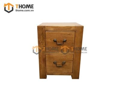 Tủ đầu giường 2 ngăn kéo cổ điển 0.55m TDG-13SM