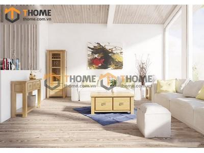 Bộ phòng khách sofa nỉ kiểu 1 gồm 3 món BPK-10SM