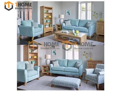 Bộ phòng khách sofa nỉ kiểu 3 gồm 3 món BPK-12SM