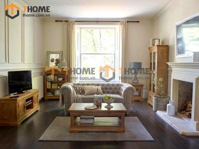 Bộ phòng khách sofa nỉ kiểu 4 gồm 5 món BPK-13SM