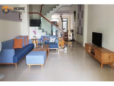 Bộ phòng khách sofa bằng nệm nỉ chân thấp gồm 2 món BPK-06SM