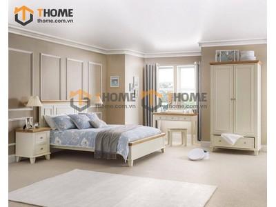 Bộ phòng ngủ Victoria màu trắng 4 món BPN-25SM