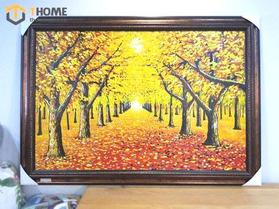 Tranh sơn dầu cây sồi vàng mùa thu TSD-06