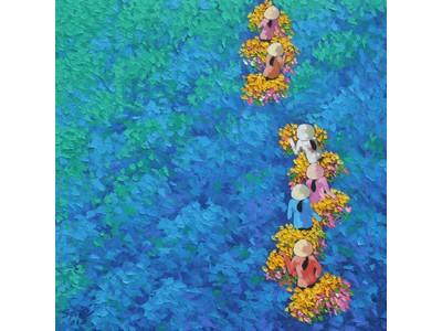 Tranh sơn dầu làng hoa TSD-03