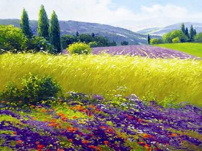 Tranh sơn dầu thung lũng hoa TSD-12