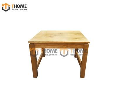 Ghế đôn chữ nhật không tựa lưng mặt gỗ GHE-30SM