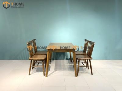 Bộ bàn ăn Obama 4 ghế 7 nan 1.2m; 1.4m BBA-28SN