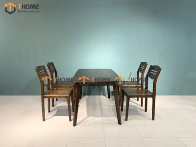 Bộ bàn ăn Obama 4 ghế 3 lá 1.2m; 1.4m BBA-30SM