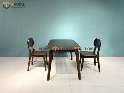 Bộ bàn ăn Obama 4 ghế tai voi 1.2m; 1.4m BBA-32SM
