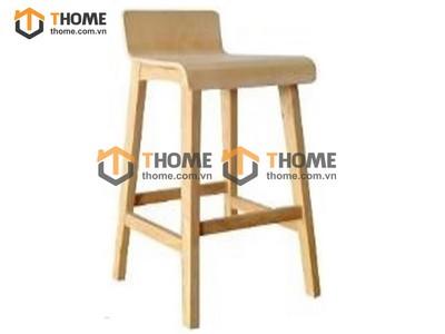 Ghế bar cao cấp chân vuông mặt gỗ GHE-31XK