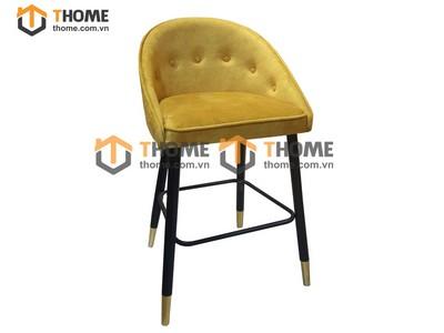Ghế bar cao cấp chân tiện có vòng sắt GHE-33XK