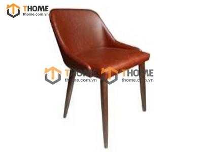 Ghế bar cao cấp chân tiện không vòng sắt GHE-34SN