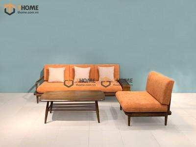 Bộ sofa Sunrise màu óc chó 2.2m SF-26SN
