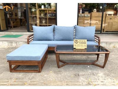 Bộ sofa góc Mango màu óc chó 2.1m x 1.6m SF-28SN