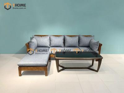 Bộ sofa góc Jun góc trái màu óc chó 2.4m x 1.6m SF-34SN